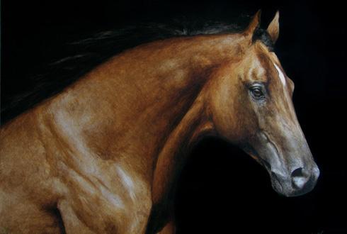 Auftragsportrait-Gemälde von Ihrem Pferd in höchster Qualität (Ölgemälde, Aquarell, Bleistiftzeichnung, ...)