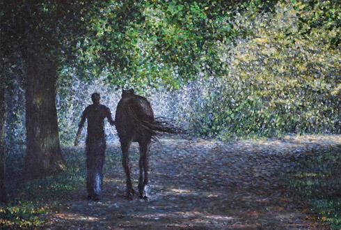 Pferde-Kunstdrucke von Pferdemaler michael Hotz